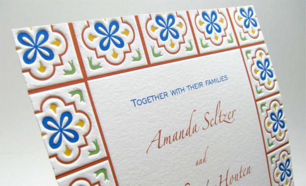Letterpress Wedding Invitations by Digby & Rose